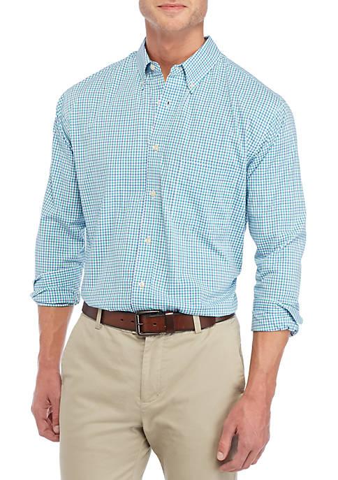 Mini Plaid Stretch Poplin Shirt