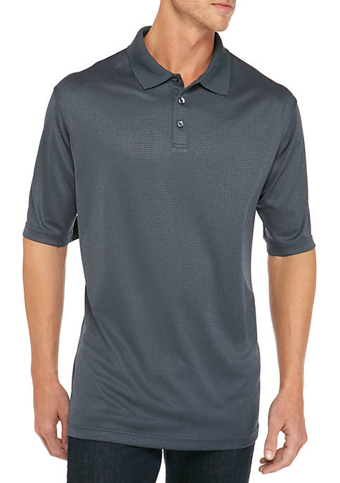 Saddlebred® Big & Tall Short Sleeve Marled Polo