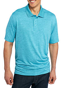 Big & Tall Short Sleeve Textured Polyester Polo