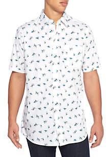 Big & Tall Short Sleeve Surfboard Woven Shirt