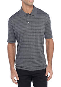 Big & Tall Short Sleeve Marled Windowpane Shirt