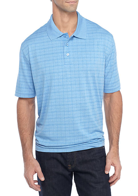 Saddlebred® Big & Tall Short Sleeve Marled Windowpane