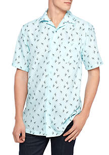 Short Sleeve Martini Glass Shirt
