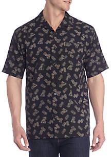 Big & Tall Short Sleeve Pineapple Pucker Shirt