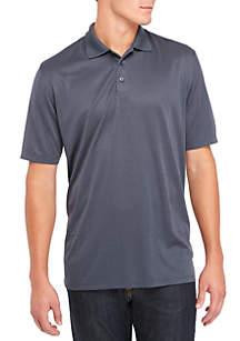 Short Sleeve Spacedye Polyester Polo Top