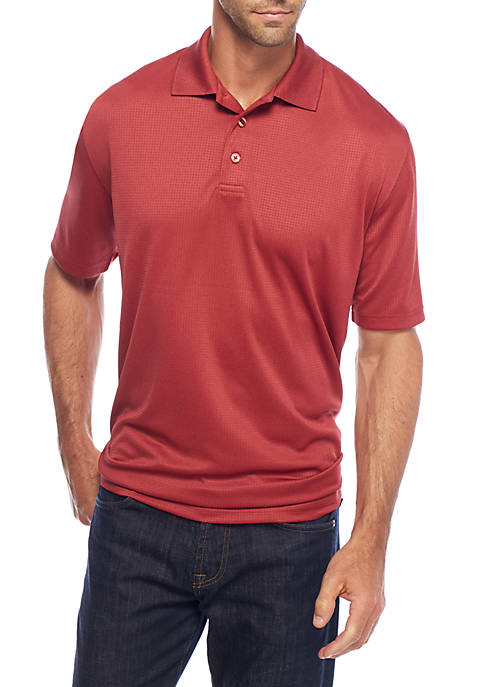 Saddlebred® Short Sleeve Spacedye Polyester Polo Top