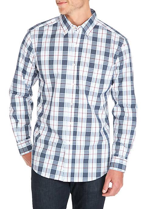 Saddlebred® Long Sleeve Medium Plaid Shirt