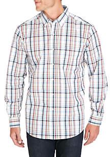 Saddlebred® Long Sleeve Multi-Plaid Shirt