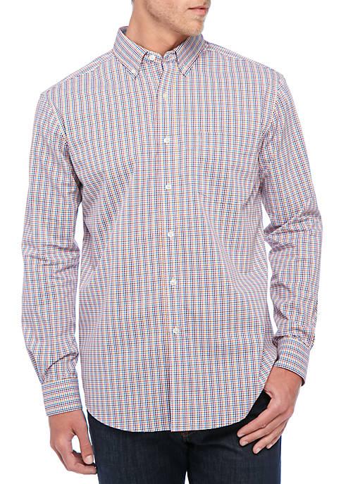 Long Sleeve Multi Gingham Dress Shirt