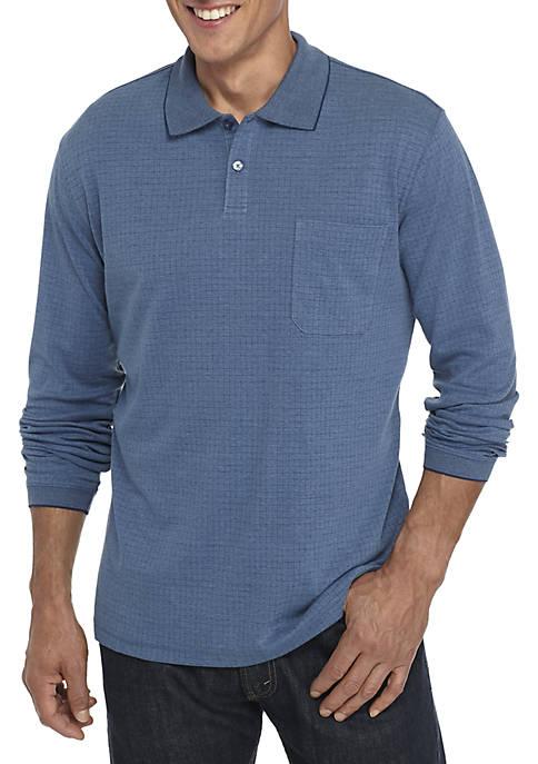 Saddlebred® Long Sleeve Box Polo Shirt