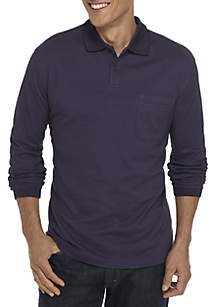 Long Sleeve Box Polo Shirt