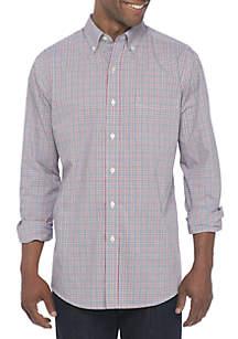 Saddlebred® Long Sleeve Plaid Stretch Poplin Shirt