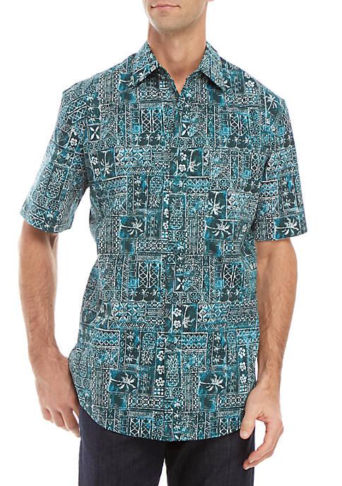 Short Sleeve Roytex Stretch Poplin Classic Fit Shirt
