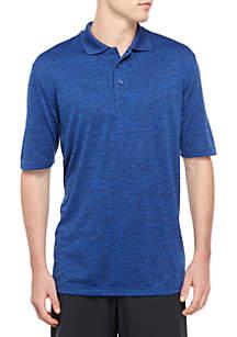 c9f10a49ee1 ... Stripe Poly Polo Shirt · Saddlebred® Big   Tall Short Sleeve Space Dye  Polo