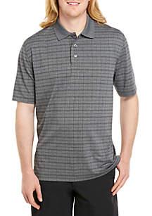 04e48ebc1 ... Saddlebred® Big & Tall Short Sleeve Windowpane Poly Polo Shirt