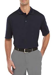 Saddlebred® Grid Short Sleeve Polo