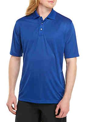 dc8557cdcb1 Saddlebred® Big   Tall Short Sleeve Box Check Poly Polo Shirt ...