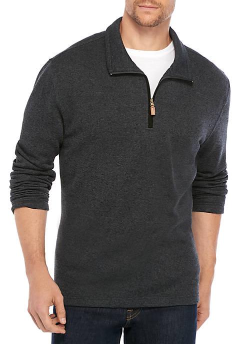 Saddlebred® Quick Dry Long Sleeve Quarter Zip Fleece