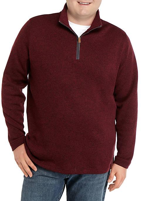Big & Tall Long Sleeve 1/4 Zip Fleece Pullover