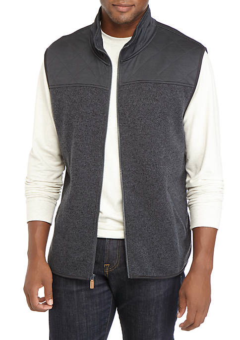 Saddlebred Quick Dry Sweater Fleece Solid Vest