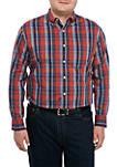 Big & Tall Comfort Flex Poplin Plaid Woven Shirt