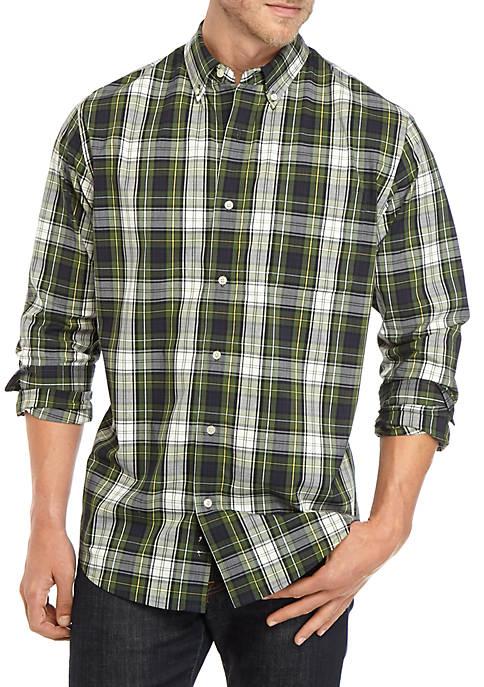 Comfort Flex Long Sleeve Plaid Woven Shirt