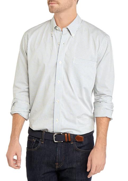 Long Sleeve Poplin Plaid Shirt