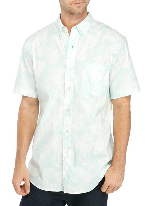 Saddlebred® Mens Short Sleeve Stretch Poplin Shirt