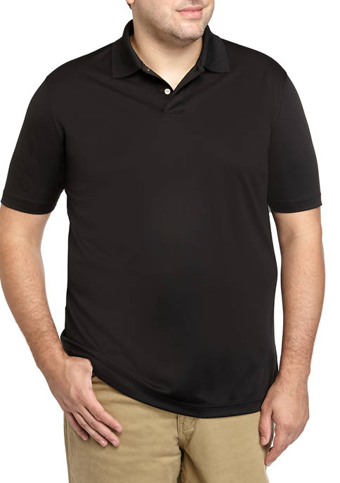 Big & Tall Performance Comfort Moisture Wicking Polo Shirt