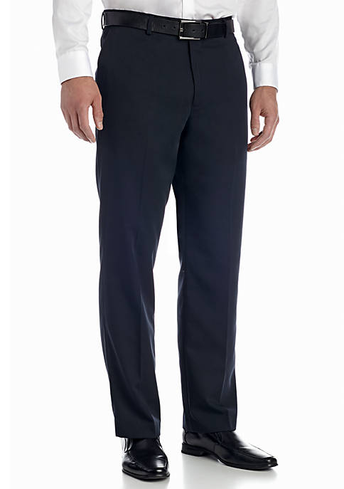 Big & Tall Tailored Wool-like Flat Front Pant