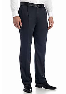Big & Tall Braggi Wool-Like Hidden Extension Comfort Waist Pleated Pant