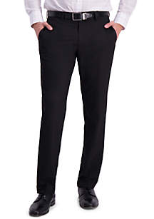Louis Raphael Solid 4 Way Stretch Skinny Fit Flat Front Dress Pant
