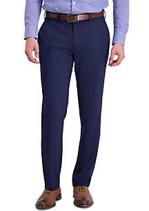 Louis Raphael Sharkskin Slim Fit Flat Front Dress Pants