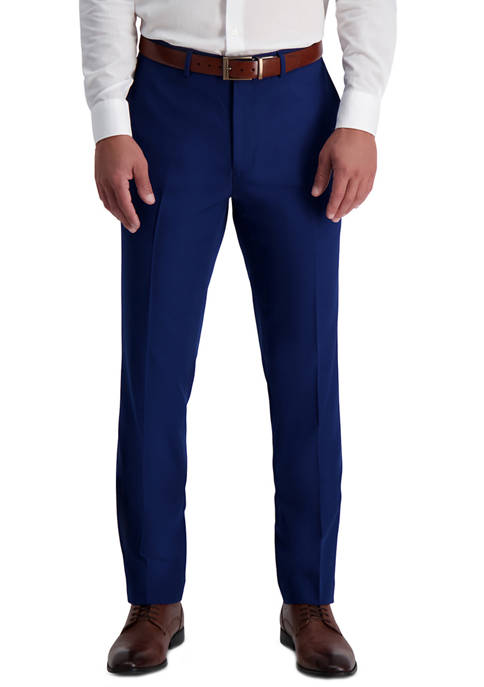 Mens Solid Stretch Skinny Fit Suit Separate Pants