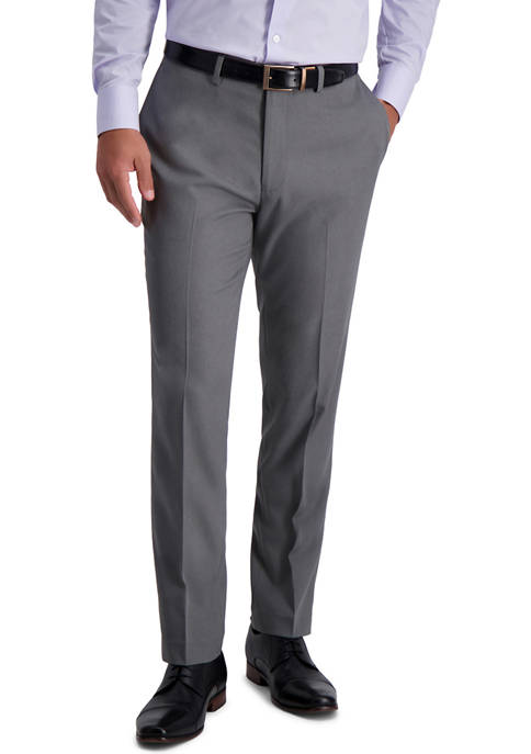 Mens Heather Stretch Skinny Fit Suit Separate Pants