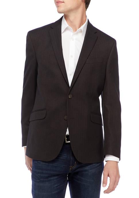 Black Brown Herringbone Sportcoat