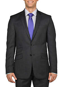 Kenneth Cole Reaction Stepweave Solid Suit Separate Coat