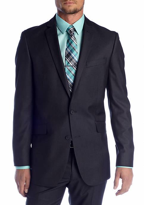 Slim Fit Charcoal Tic Suit Separate Coat