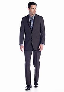 Kenneth Cole Reaction Slim Fit Brown Stripe Suit