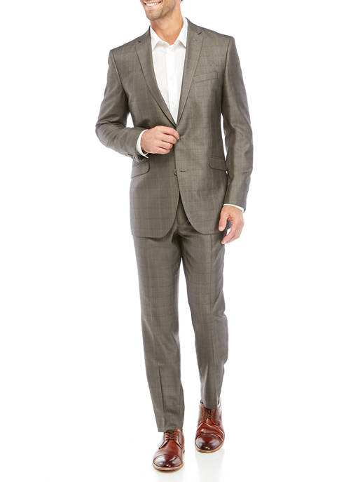 Kenneth Cole Reaction Slim-Fit Check Suit