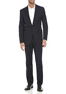 Kenneth Cole Reaction 2-Piece Plaid Tonal Stretch Suit