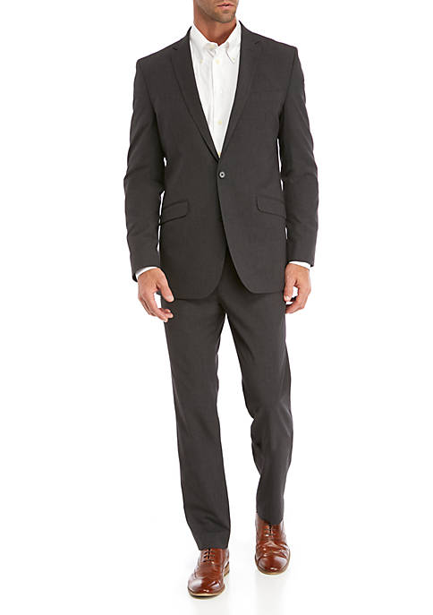Kenneth Cole Reaction Charcoal Gray Mini Check Suit