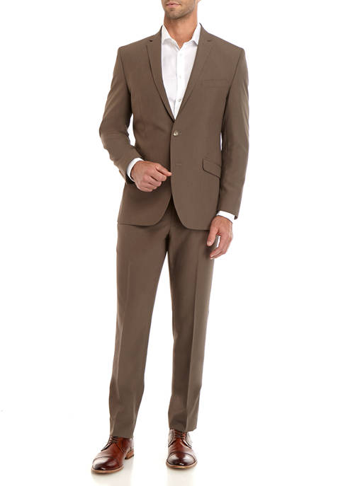 Kenneth Cole Reaction Olive Solid Suit