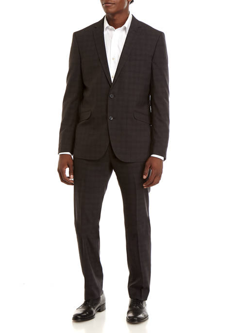 Kenneth Cole Reaction Gray Text Suit