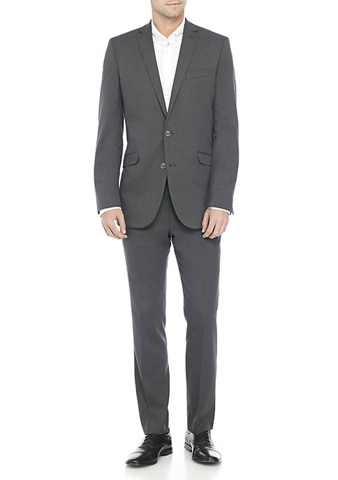 Kenneth Cole Reaction Grey Solid Off Suit Suit