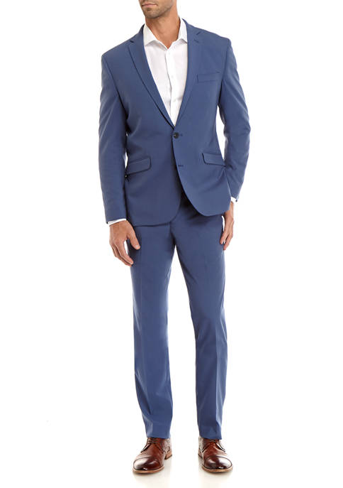 Kenneth Cole Reaction Bright Blue Tonal Check Suit