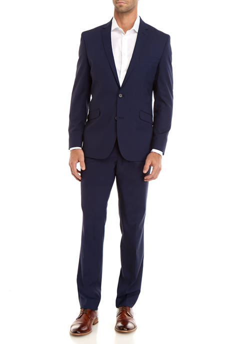 Kenneth Cole Reaction Mens Gingham Suit