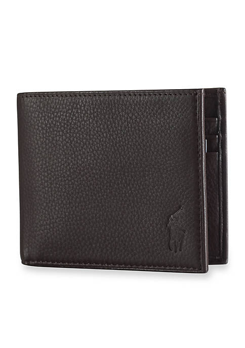 Leather Billfold Leather Leather Pebbled Pebbled Pebbled Wallet Wallet Billfold wv8Nnm0