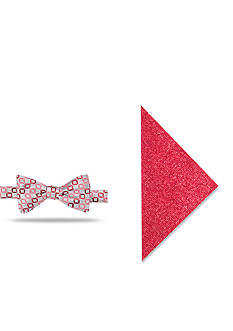 Madison Irwin Geometric Pocket Square and Bow Tie