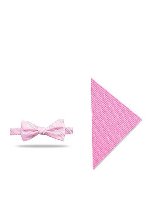 Madison Baldwin Stripe Bow Tie Pocket Square Set